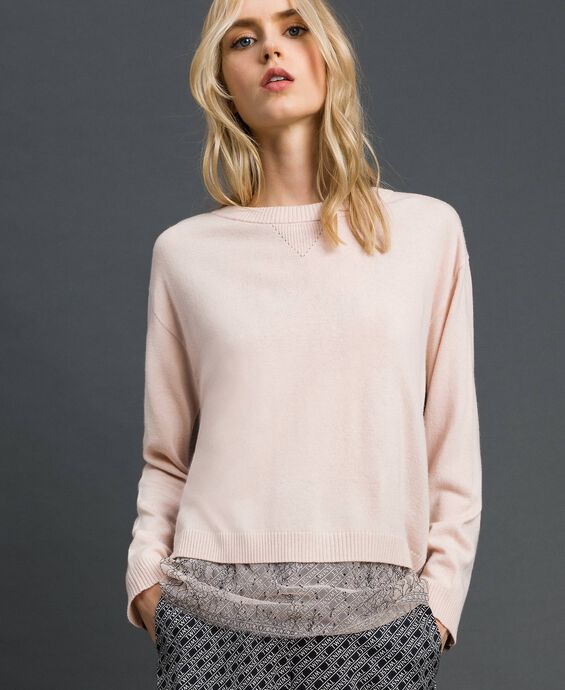 Boxy jumper with slip top