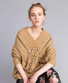 Mélange effect maxi jumper Camel Woman PA8371-01