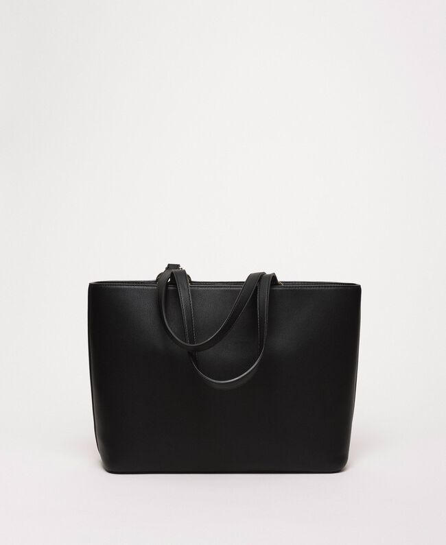 Сумка-шоппер из искусственной кожи с платком Черный женщина 201MA7080-04