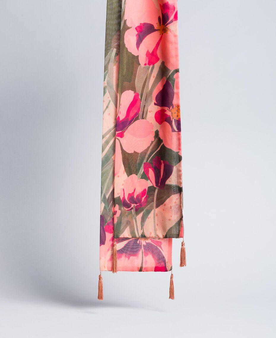 Écharpe imprimée Imprimé Rose Grande Tulipe Femme OA8T14-02