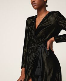 Long velvet dress Black Woman 202TT2160-04