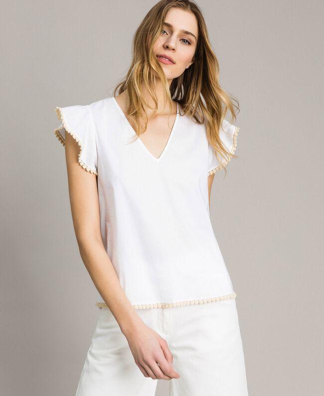 Poplin T Shirt Woman White Twinset Milano