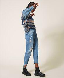 Стандартные джинсы с прорехами Деним Светлый женщина 202MT2310-03