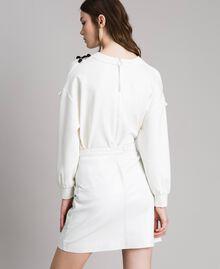 Minirock aus Leder Weiß Frau 191TP2163-03