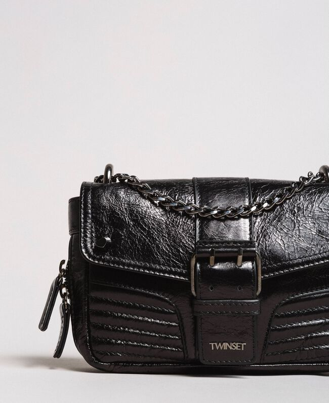 Rebel leather shoulder bag Black Woman 191TA7237-01