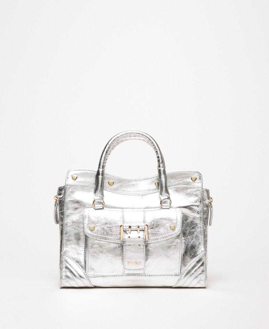 Кожаная сумка Rebel с карманом Серый Титан женщина 201TA723Z-01