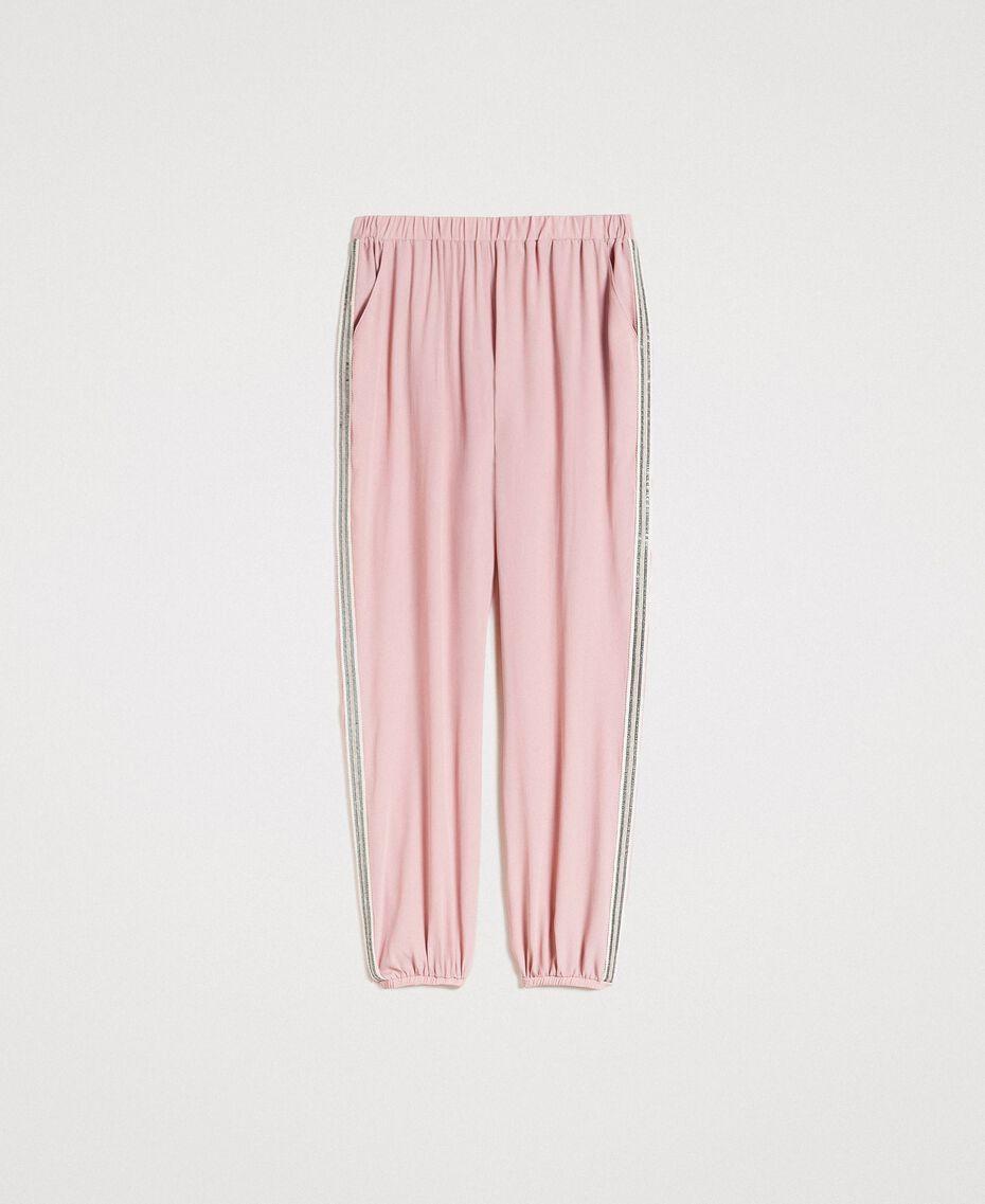 """Jogginghose mit Pailletten """"Pink Bouquet"""" Pink Frau 191LB2LDD-0S"""