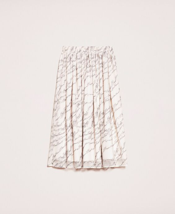 Tulle skirt with embroidered logo