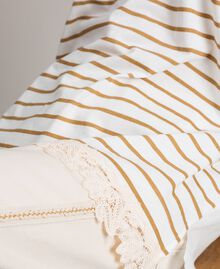 "Striped maxi t-shirt ""Savannah"" Beige / Off White Striped Print Woman 191ST2091-04"