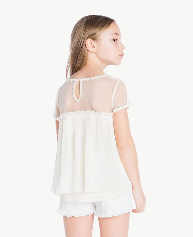 Embroidered blouse Pale Cream Child GS82B2-04