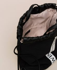 Canvas sackpack with logo Black Woman 201TO8101-05