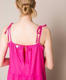 Long dress with flounces Shocking Pink Woman 201LM2AUU-04
