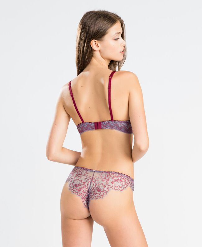 """Two-tone lace push-up """"Red Theatre"""" Red Woman IA8D44-03"""