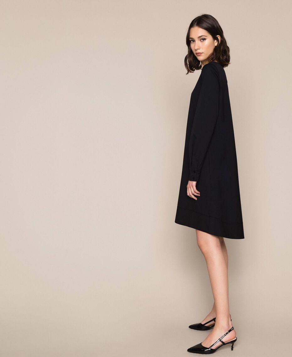 Поплиновое платье Черный женщина 201MP218G-02