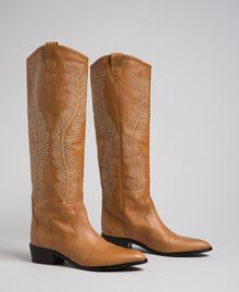 Texas boots with embroidery Tobacco Woman 192TCT06A-01