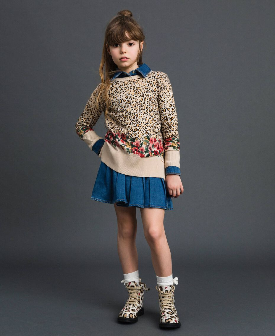 Denim effect shirt dress Mid Denim Child 192GJ2510-0T