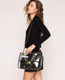Grand sac à bandoulière avec pochette Blanc Femme 201TA7181-0S