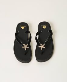 """Thong sandals with jewel detail """"Sky"""" Blue Woman 211LMPZPP-05"""