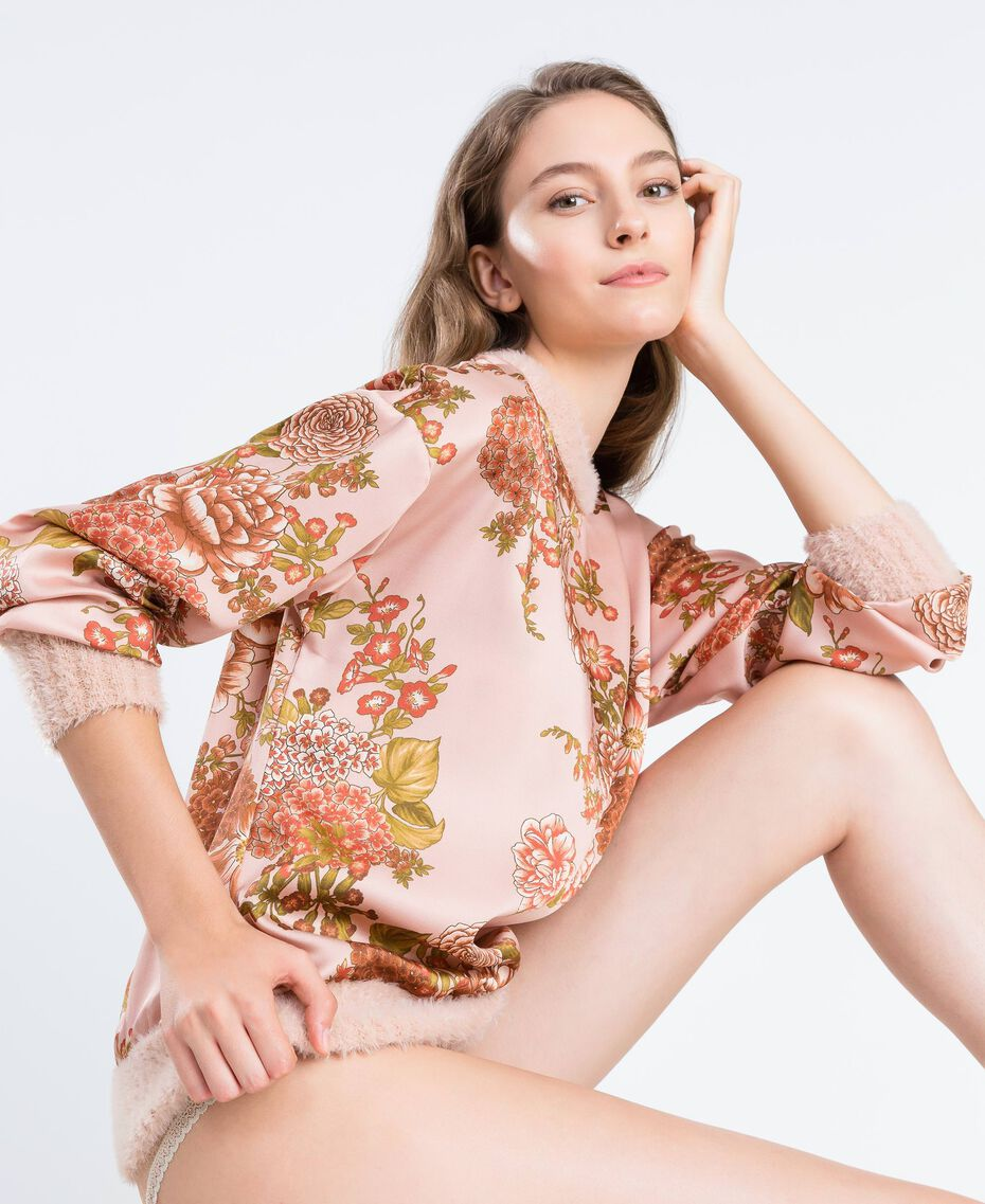 Blouse en twill avec imprimé floral Imprimé Rose Ballerines Fleur Femme LA8KPP-02