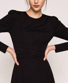 Robe stretch avec ceinture Noir Femme 201ST2141-04