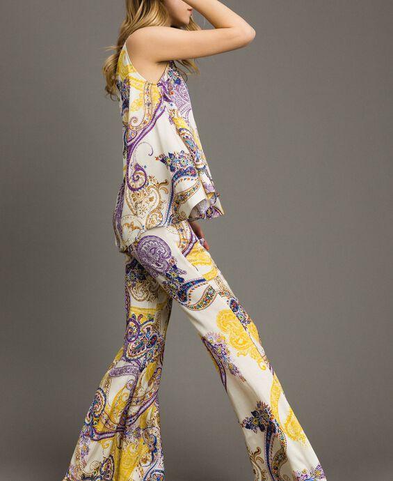 Paisley print palazzo trousers