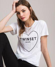 T-Shirt mit Logo Weiß Frau 191TP2606-01