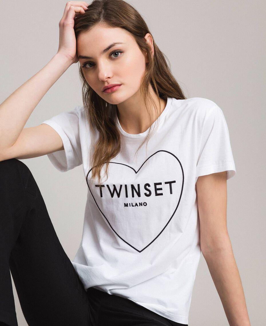 Logo t-shirt White Woman 191TP2606-01
