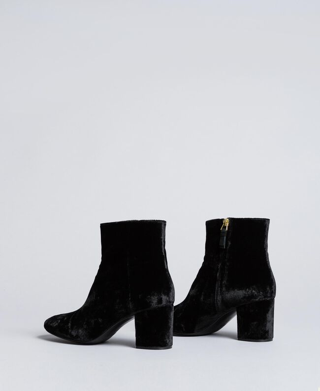 Bottines en velours Noir Femme CA8THJ-03