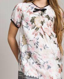 Viskose-Kleid mit Spitzen-Aufdruck und Blumenmuster Motiv Ramage Schmetterling Kind 191GJ2520-04