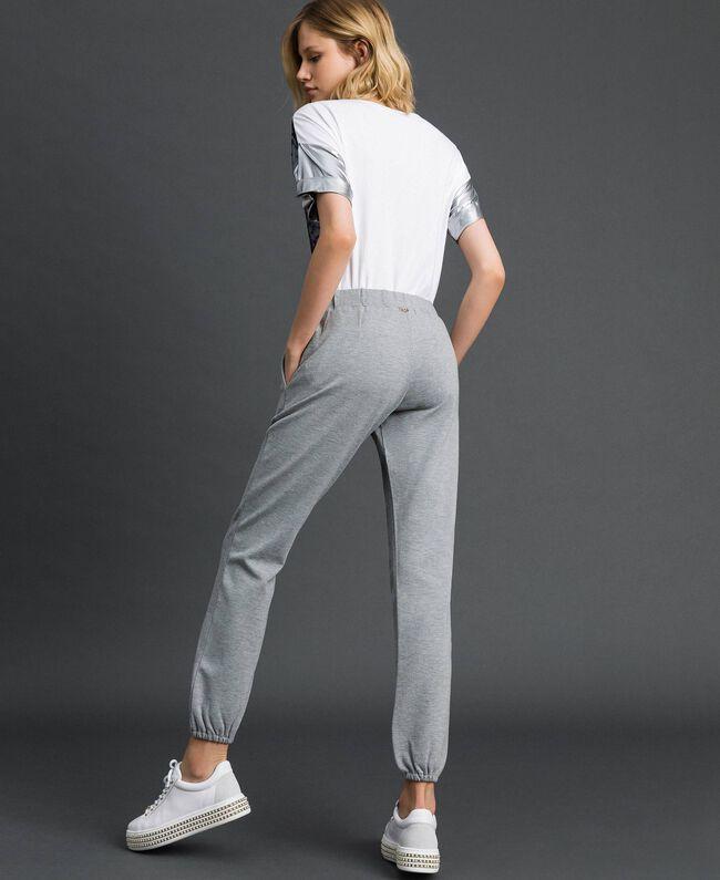 Pantalon de jogging Gris Mélangé Femme 192LI2UEE-03
