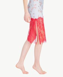"Satin slip ""Fairy Blue"" Microflower Print Woman LS8BGG-05"