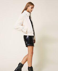Faux fur jacket Creamy White Woman 202MP203A-02
