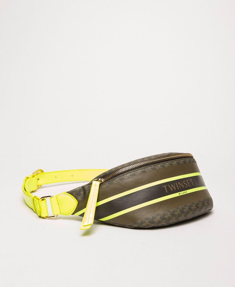 Sac banane en similicuir imprimé papillons Imprimé Papillon Vert «Camouflage»/ Jaune Fluo Femme 201TA7244-01