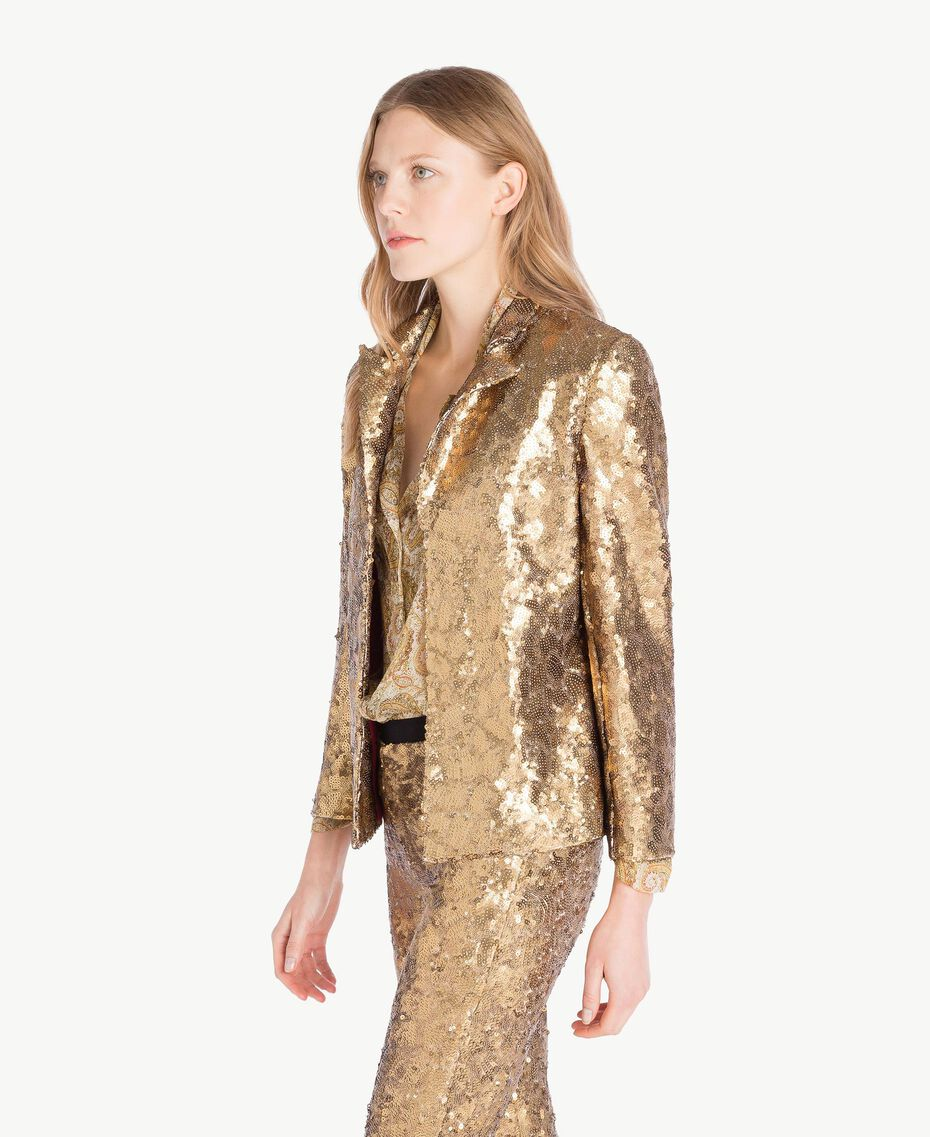 All over sequin jacket Gold Yellow Woman TS82EN-02