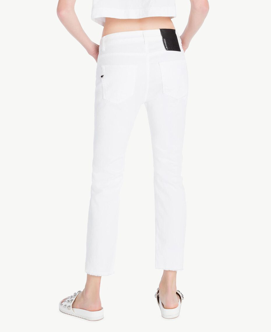 Girlfriend trousers White Woman YS82ZP-03