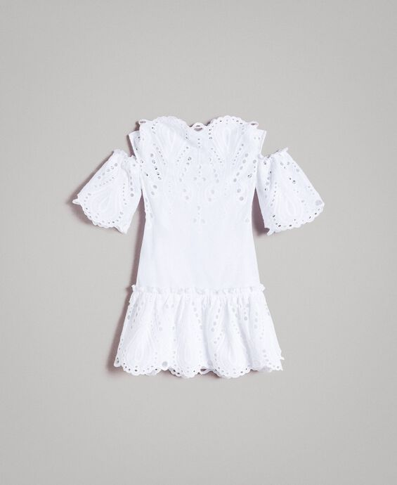 Muslin dress with broderie anglaise embroidery