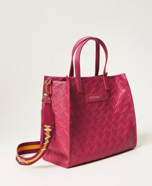 "Mittelgroße Twinset Bag im Shopperformat mit Logo ""Red Plum""-Violett Frau 202TB7161-02"