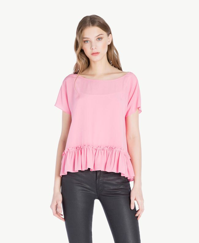 "Silk blouse ""Doll"" Fuchsia Woman PS8235-01"