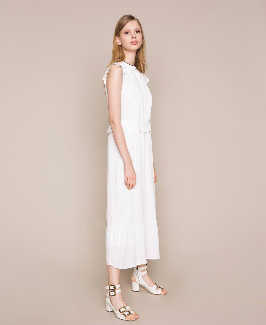 Crêpe de Chine long dress Ivory Woman 201TP2390-02
