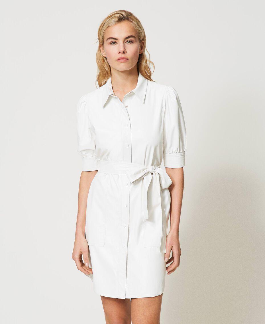 Shirt dress with belt White Snow Woman 211TT2020-02