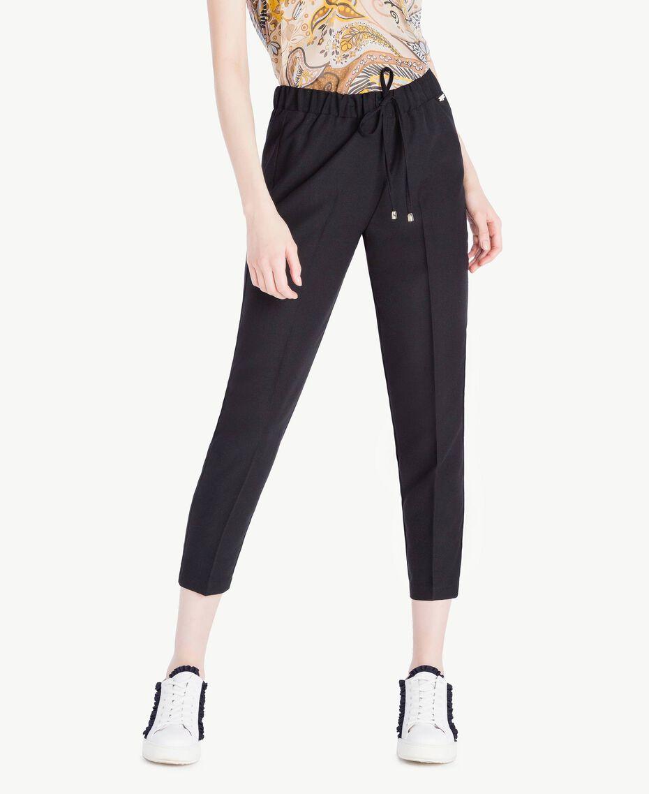 Pantalon cigarette cady Noir Femme SS82AE-01