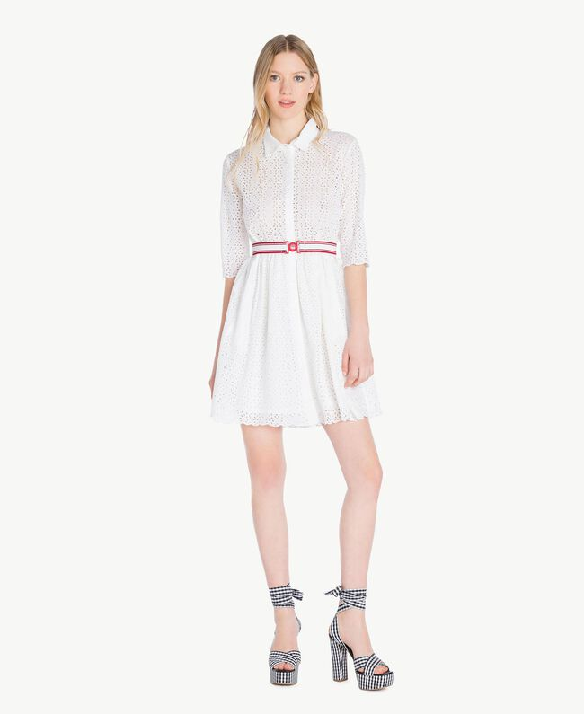 Robe broderie anglaise Off White Femme YS82CA-01