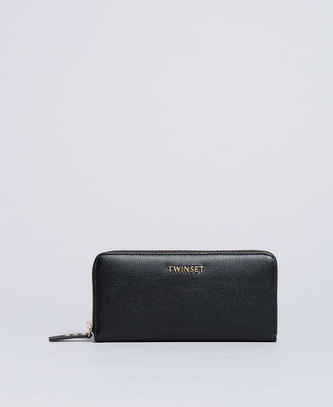 Leather wallet Black Woman OA8THA-01