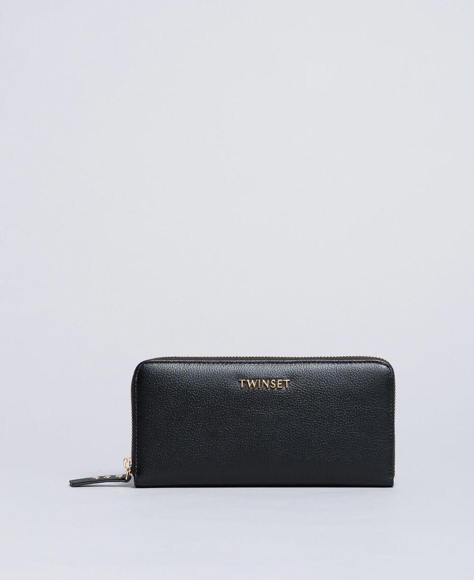 Portefeuille cuir Noir Femme OA8THA-01