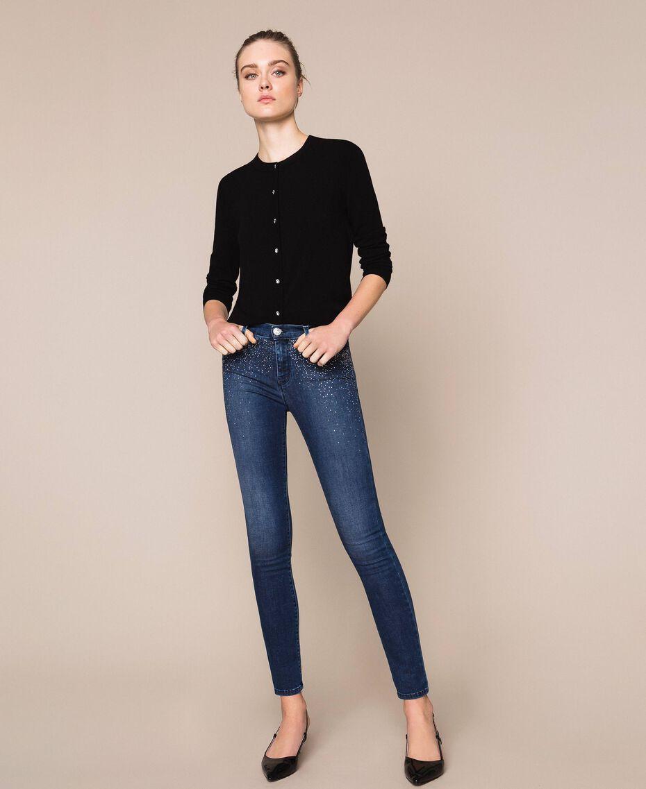 Push up jeans with studs Denim Blue Woman 201MP227J-02