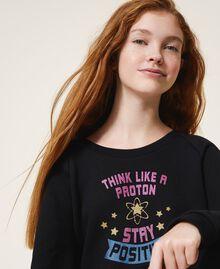Cropped sweatshirt with print Black Child 202GJ2811-01
