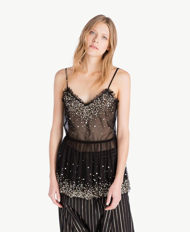 Tulle top Black Woman TS82EH-01