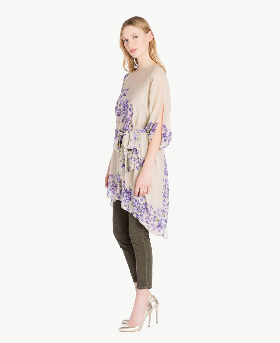 Printed kaftan Violet Edge Print Woman PS82XN-02