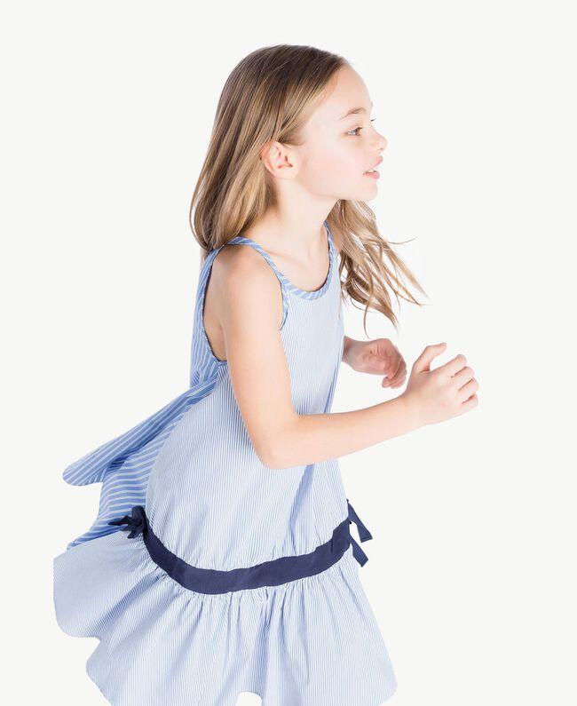 Kleid mit Streifen Jacquard Mix Bastoncini Kind GS82L2-05