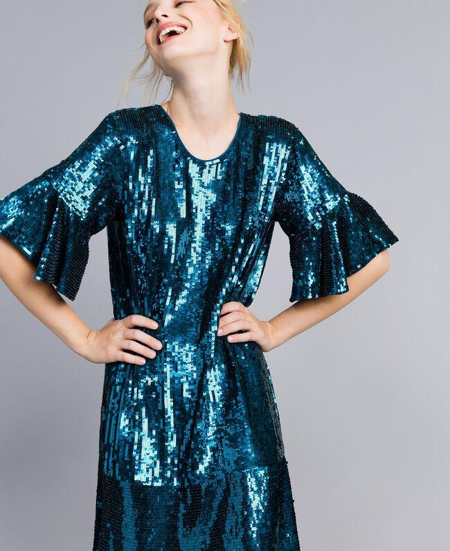 Sequin dress Octane Blue Woman TA82DC-04